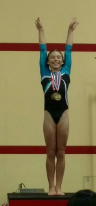 realis gymnastics academy student Nevaeh Lamy won  2016 level 8 regional all-around World Champion in China